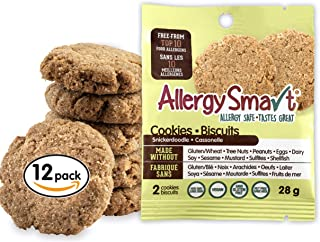 Allergy Smart Cookie - School Safe, Nut Free, Plant Based Organic Snacks - Dairy Free, Gluten Free Delicious Ingredients - 28g Units, 12 Individual Wrapped Units, 336g Total (Snickerdoodle)