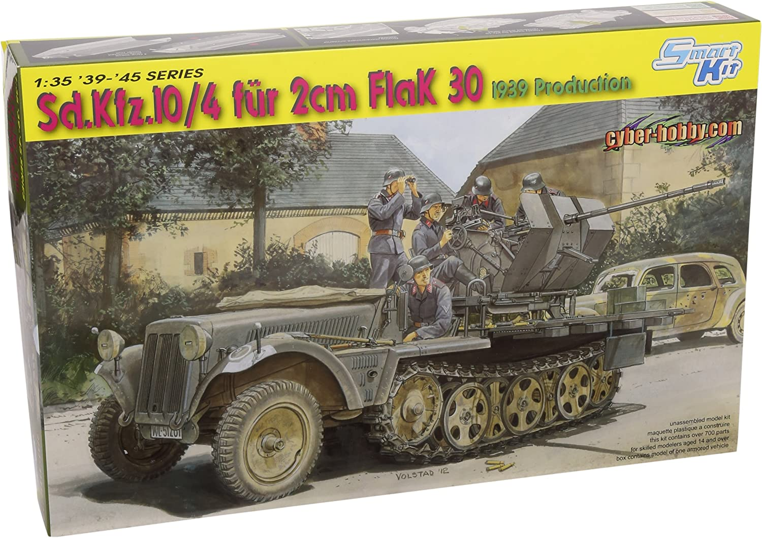 Dragon 1 35 Sd.kfz 10 4 Fur 2cm Flak 30
