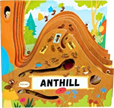 Anthill (Happy Fox Books) One-of-a-Kind Board Book Teaches Kids Ages 2 to 5 about Ants, Exploring More Deeply into an Anthill with Every Turn of the Page; Educational Facts, Vocabulary Words, and More