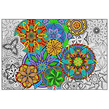 Amazon.com: Giant Coloring Poster Mandala Madness For Kids And Adults -  Great For Family Time, Girls, Boys, Arts And Crafts, Adults, Care  Facilities, Schools And Group Activities: Posters & Prints