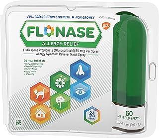 Flonase Allergy Relief Nasal Spray, 24 Hour Non Drowsy Allergy Medicine, Metered Nasal Spray - 60 Sprays