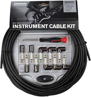 D'Addario DIY Solderless Custom Cable Kit, 40 feet, 10 plugs