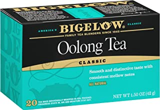 Bigelow Oolong Tea Bags 20-Count Box (Pack of 6),  Caffeinated Oolong Tea, 120 Tea Bags Total