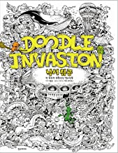 Doodle Invasion Zifflin's Coloring Book By Kerby Rosanes Anti Stress Art Therapy