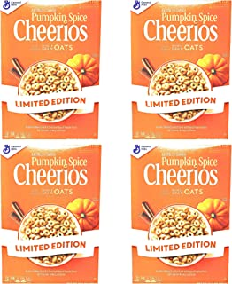 Limited Edition Pumpkin Spice Cheerios - 10.8 oz Per Box - Whole grain and Gluten Free - Choose 3 Pack or 4 Pack (4 Pack)