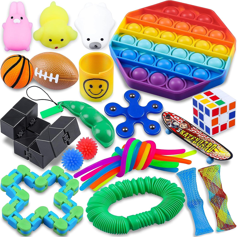 Fidget Packs 24 Pack Sensory Toys Translated Set for ADHD Max 46% OFF fo Kids