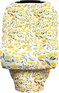 Little Leo Premium Car Seat Covers for Babies That can be Used as a Nursing Cover Up, Stroller Cover, Shopping Cart Cover, High Chair Cover or Swing Cover (Spring Bushel)