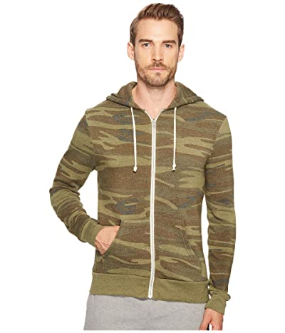 Alternative Printed Rocky Zip Hoodie (Camo) Men