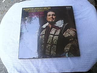 DOMINGO SINGS CARUSO - vinyl lp. VESTI LA GIUBBA - UNA FURTIVA LAGRIMA - LA DONNA E MOBILE - M'APPARI - AH! FUYEZ, DOUCE IMAGE - O PARADISO AND FOUR MOUE