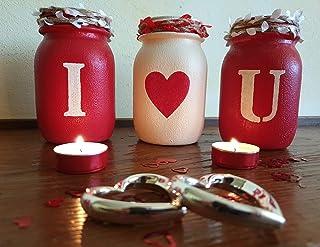 Vasi I U idea regalo personalizzato San Valentino Anniversario Matrimonio Casa Arredamento personalizzabile