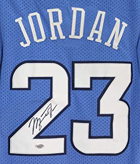 Michael Jordan North Carolina Tar Heels Signed Autographed Blue #23 Jersey