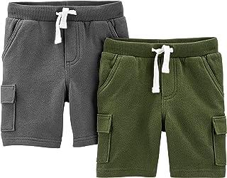 Simple Joys by Carter's Bebé Niños shorts de algodón, Pack de 3