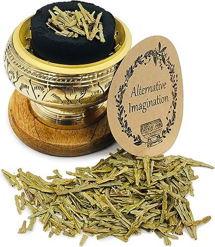 discount Alternative Imagination Premium Carved Brass Screen Burner with Loose new arrival Cedar outlet sale Incense outlet sale
