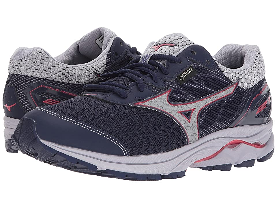 Mizuno Wave Rider 21 GTX (Eclipse/Silver/Paradise Pink) Girls Shoes