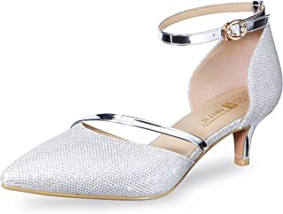 Women's IN2 Maxine Wedding Low Kitten Heels Closed Toe...