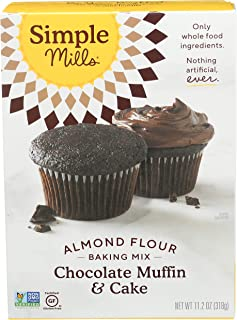 Simple Mills Almond Flour Baking Mix, Gluten Free Chocolate Cake Mix, Muffin pan ready, Made with whole foods, (Packaging ...