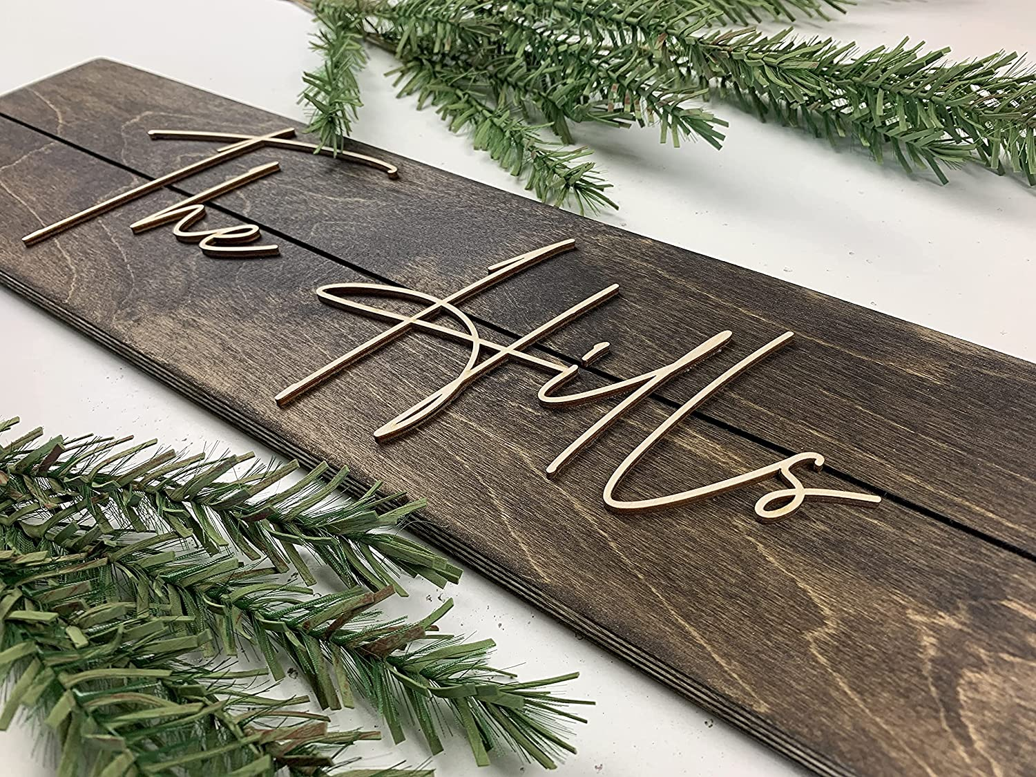 Custom Name Sign   Made in USA Personalized Family Sign   Create your own Sign   Rustic Wedding Decor Sign   Personalized Signs   Last Name Sign   Wooden Name Sign (6