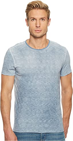 John Varvatos Star U.S.A. Short Sleeve Striped Crew Reverse Spray K3589U1B