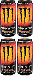 AQSSDQC Monster Rehab, Tea, Orangeade, Energy, 15.5 Ounce, 4 Cases