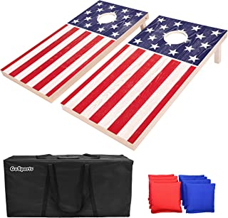 Best GoSports Flag Series Wood Cornhole Sets – Choose between American Flag and State Flags – Includes Two Regulation Size 4' x 2' Boards, 8 Bean Bags, Carrying Case and Game Rules Review