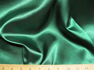 Discount Fabric Satin 65 inches wide Choose your Color Emerald Green