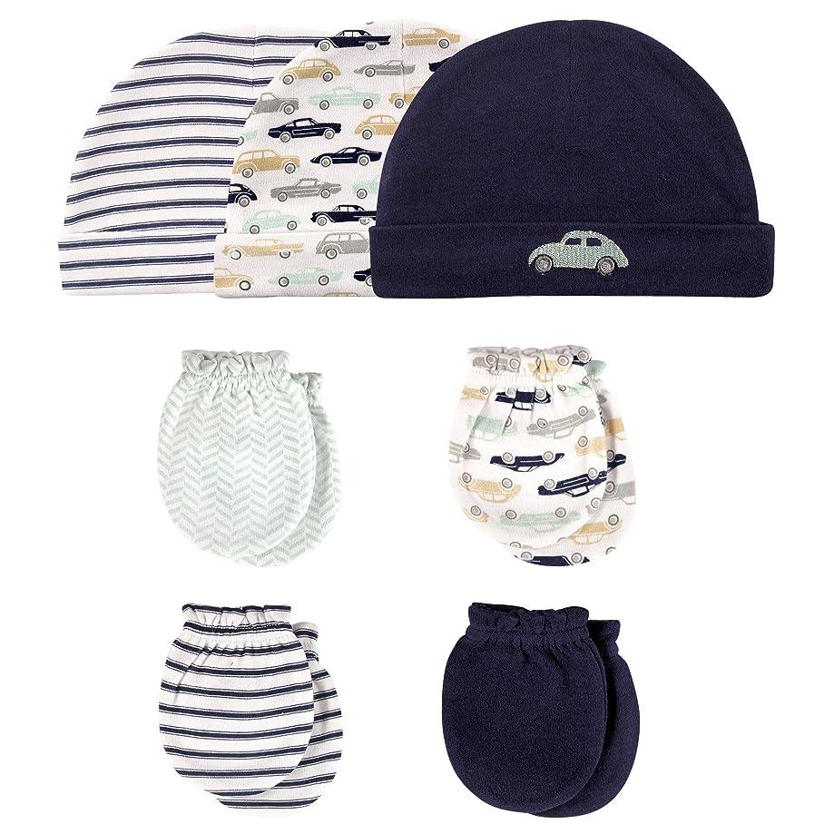 Hudson Baby Baby Girls' Cotton Cap and Scratch Mitten Set