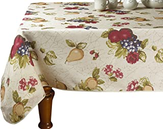 "Violet Linen Tablecloth, Beige, 60"" x 84"""