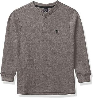 U.S. POLO ASSN. boys BOYS L/S SOLID THERMAL HENLEY T-Shirt