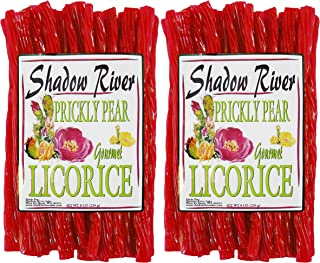 Shadow River Gourmet Prickly Pear Cactus Licorice Candy Twists 8 oz - Pack of 2