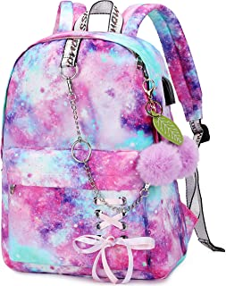 Spotted Tiger School Backpack for Girls Backpack School Bag Bookbag Cute Travel Backpack for Teen Girls Women