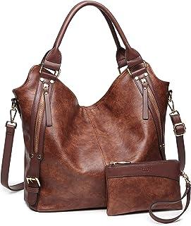 Women Tote Bag Handbags PU Leather Fashion Hobo Shoulder Bags with  Adjustable Shoulder Strap b3011d0a535d3