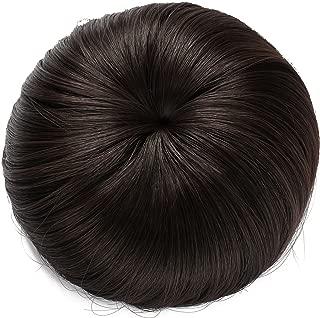 Onedor Synthetic Fiber Hair Extension Chignon Donut Bun Wig Hairpiece (4# - Dark Brown)