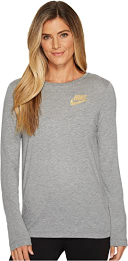 Nike - Sportswear Essential Metallic Long Sleeve Top