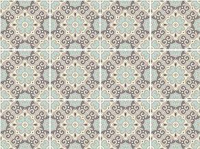 Cuadros Lifestyle Decoratieve tegelstickers met leuke motieven en ornamenten voor muren en tegels, 12-delige set, zijdema...
