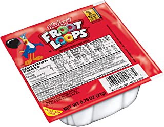 Kellogg's Froot Loops, Breakfast Cereal Bowl, Single Serve, 0.75 oz Bowl(Pack of 96)