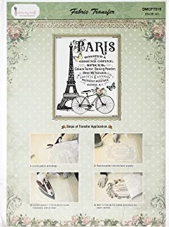 Dress My Craft DMCFT-015 Fabric Transfer Sheet 24X34cm-An Evening in Paris