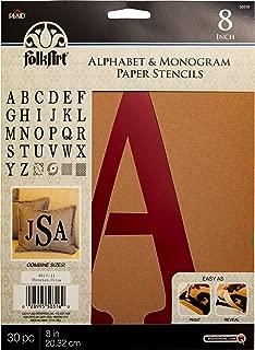 FolkArt 50316 Stencil Paper, Alphabet & Monogram Serif 8