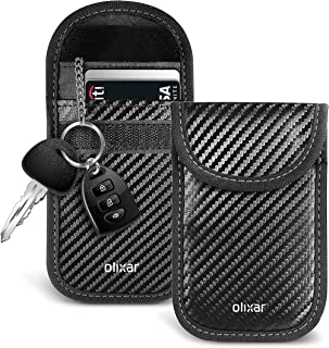 Olixar Keyless Car Key Signal Blocker Pouch - Anti Theft Faraday Pouch That Stops Thieves and Prevents Car Theft by Blocki...