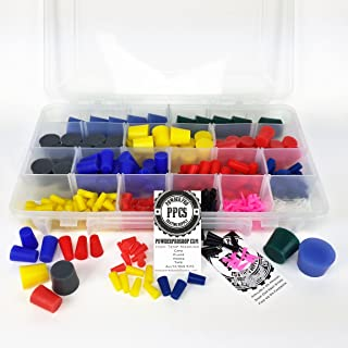 502 Piece Professional Plug Kit - Ultra High Temp Silicone Rubber Tapered Plugs - Powder Coating Custom Painting Supplies