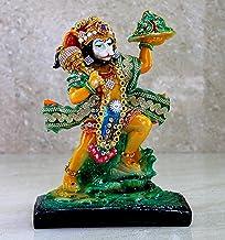 eSplanade Resin Hanuman Anjaneya Pavan Putra Idol Murti Moorti Statue - 8.5 Inches | Pooja Idols | Home Decor