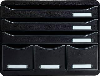 Exacompta - Réf. 306714D - STORE-BOX - Caisson 6 tiroirs, 3 tiroirs pour documents A4+ et 3 tiroirs fins hauts-Dimensions ...