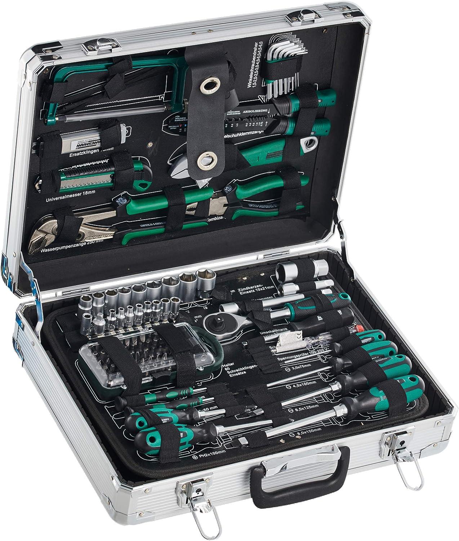Mannesmann - M29072-124 piezas Juego de herramientas en maletín de aluminio