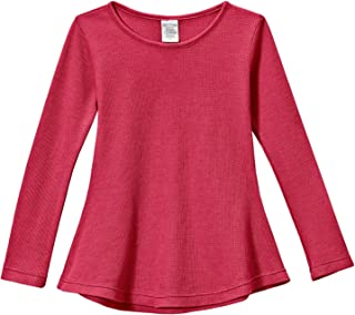 City Threads Girls Thermal Long Sleeve Tunic Shirt for School & Play, Made in USA