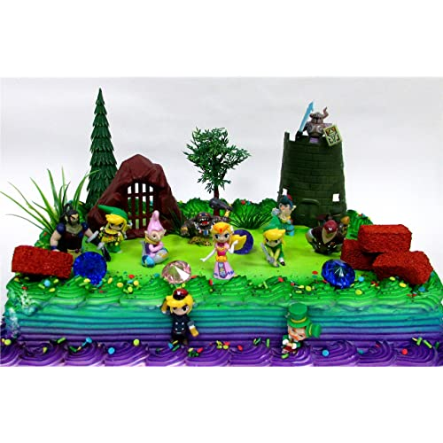 Legend Of Zelda Birthday Cake Topper Set Featuring Link Phantom Bryne