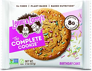 Lenny & Larry's The Complete Cookie, Birthday Cake, 2 Ounce Cookies - 12 Count, Soft Baked, Vegan and Non GMO Protein Cookies