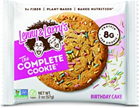 Lenny & Larry's The Complete Cookie Snack Size, Birthday Cake, Soft Baked, 8g Plant Protein, Vegan, Non-GMO...