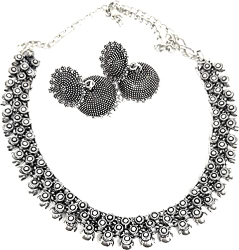 Silver Oxidized Jewellery Necklaces For Women