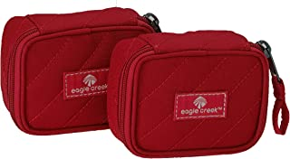 Eagle Creek EC0A37G3138 Pack-It Original Quilted Mini Cube Set Packing Organizer, Red Fire, Set of 2 (XS)