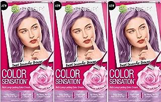 Garnier Hair Color Sensation Hair Cream, Sweet Lavender Dreams, 3 Count