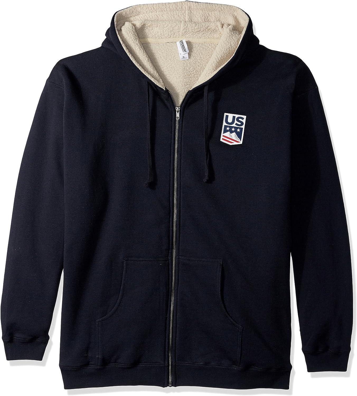 US Ski-Snowboard Licensed Apparel U.S. Ski Team Logo Sherpa Lined Hoodie